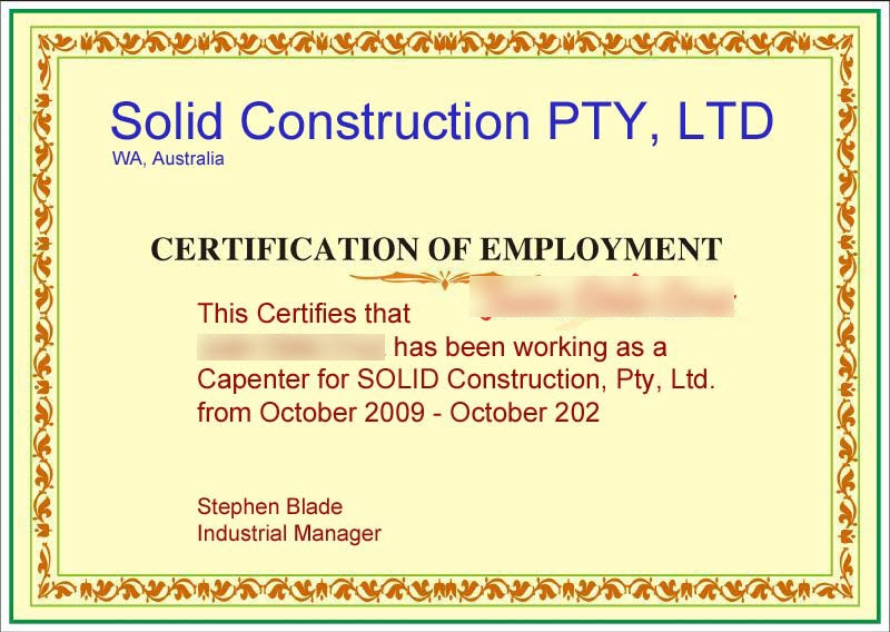 Doc404522 Employee Certificate Sample Employment Certificate – Employee Certificate Sample